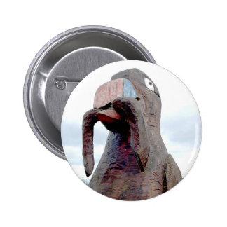 Huge Bird With Worm In Beak Pinback Buttons