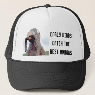 Huge Bird With Worm In Beak Trucker Hat