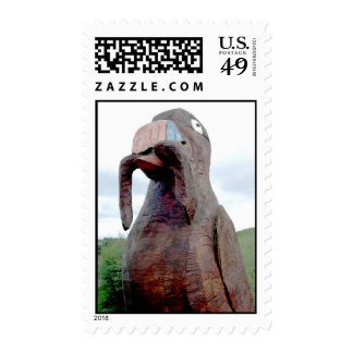 Huge Bird With Worm Stamps
