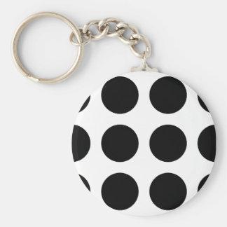 Huge Black Dots Key Chains