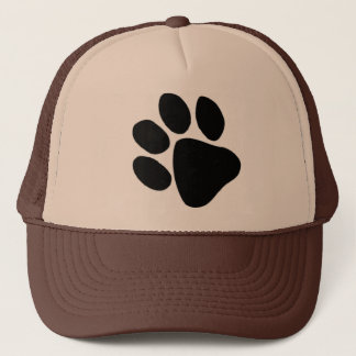 Huge Black Pawprint Dog Trainer Veterinarian Hat