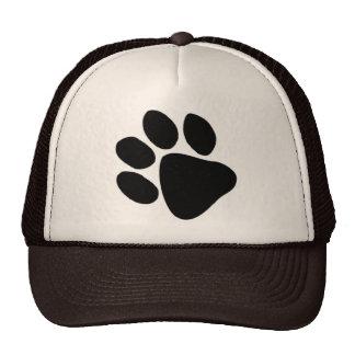Huge Black Pawprint Dog Trainer Veterinarian Hat