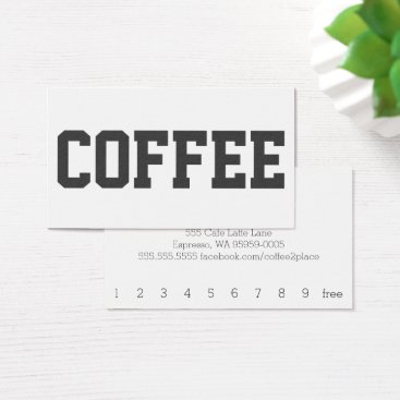 coffeepunch Huge Black Text on White Punch Loyalty Card