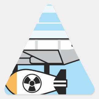 Huge Bomb Cartoon Triangle Sticker