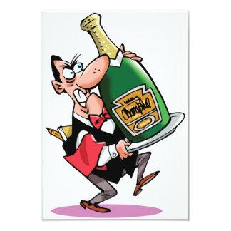 "Huge Bottle Of Champagne Invitations 3.5"" X 5"" Invitation Card"