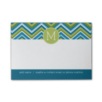 Huge Bright Chevron Pattern with Custom Monogram Post-it Notes