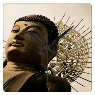 Huge Buddha Square Wallclock