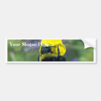 Huge Bumblebee On The Flower Bumper Sticker