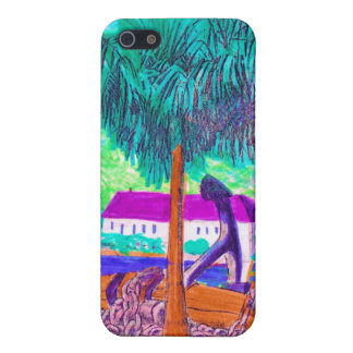 Huge Chain and Anchor on a Tropical Waterfront Case For iPhone SE/5/5s