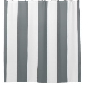 Gray And White Shower Curtains Zazzle