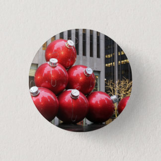 Huge Christmas Ball Ornaments in NYC Button