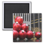 Huge Christmas Ball Ornaments in NYC 2 Inch Square Magnet
