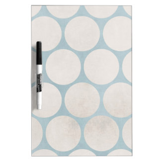 Huge Circles Blue White Grungy Dry-Erase Board