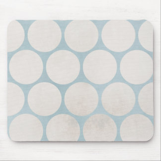 Huge Circles Blue White Grungy Mouse Pad
