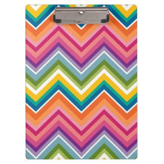 Huge Colorful Chevron Pattern Clipboard