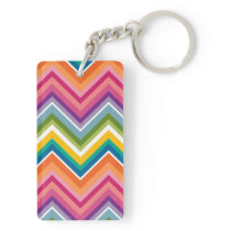 Huge Colorful Chevron Pattern Keychain