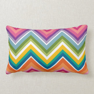 Huge Colorful Chevron Pattern Throw Pillow