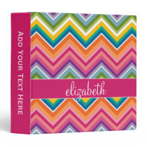 Huge Colorful Chevron Pattern with Name Binder