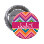 Huge Colorful Chevron Pattern with Name Buttons