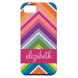 Huge Colorful Chevron Pattern with Name iPhone 5 Cover