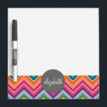 """Huge Colorful Chevron Pattern with Name Dry-Erase Board<br><div class=""""desc"""">A bold,  graphic zig zag design in sweet,  cheerful colors. This colorful design can be found on many popular case styles. If you need to make adjustments to the art,  click on the customize it button and make changes.</div>"""