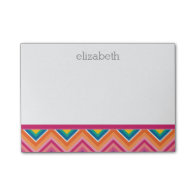 Huge Colorful Chevron Pattern with Name Post-it® Notes