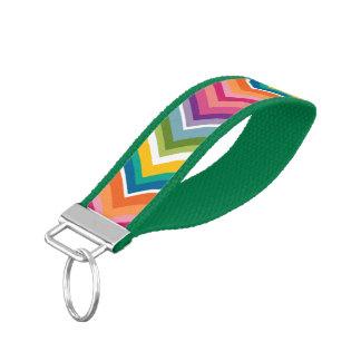 Huge Colorful Chevron Pattern Wrist Keychain