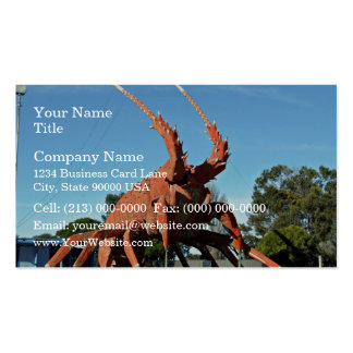 Huge crab Statue in grassy ground Business Card Template