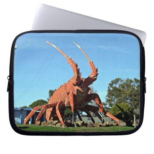 Huge crab Statue in grassy ground Laptop Computer Sleeves