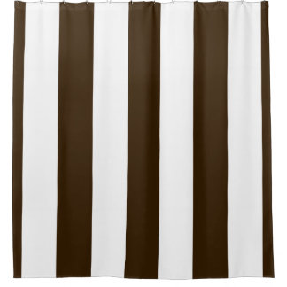 dark brown shower curtain. Huge Dark Brown White Vertical Stripe NL  3 Shower Curtain Curtains Zazzle