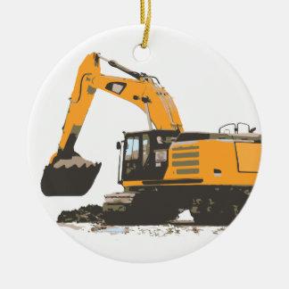 Huge Dirt Excavator Ceramic Ornament
