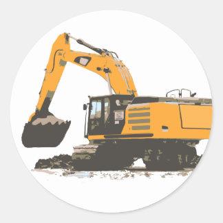 Huge Dirt Excavator Sticker