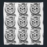 "huge eyes kitty cartoon style illustration bandana<br><div class=""desc"">design by anticute!..</div>"