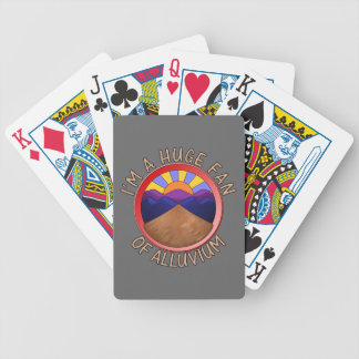 Huge Fan of Alluvium Pun Bicycle Playing Cards