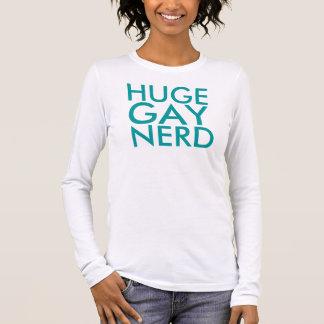 huge gay nerd long sleeve T-Shirt