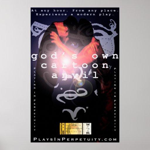 """Huge """"God's Own Cartoon Anvil""""  Poster"""
