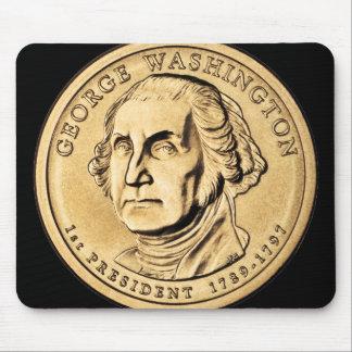 Huge Gold Washington Dollar Coin Mouse Pad