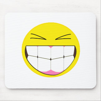 Huge Grin Emoticon Mouse Pad