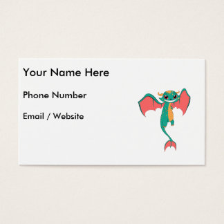 Huge Grin Mythical Flying Dragon Business Card