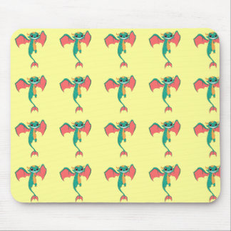 Huge Grin Mythical Flying Dragon Mouse Pads