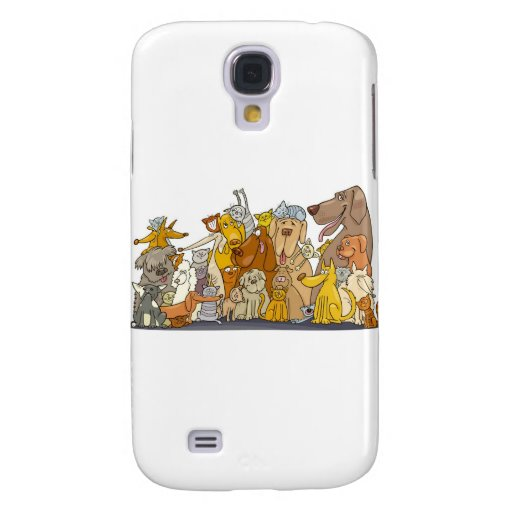 huge group of cats and dogs samsung galaxy s4 case