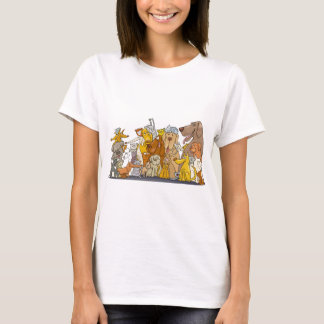 huge group of cats and dogs T-Shirt