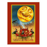 Huge Halloween Moon Card Postcards