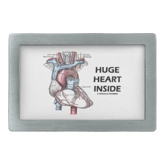 Huge Heart Inside (Anatomical Heart) Rectangular Belt Buckles