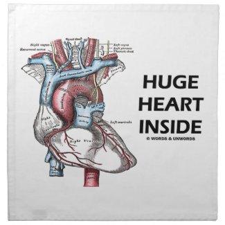 Huge Heart Inside (Anatomical Heart) Cloth Napkin