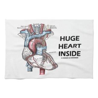 Huge Heart Inside (Anatomical Heart) Kitchen Towel