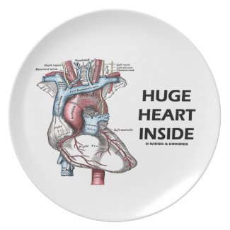 Huge Heart Inside (Anatomical Heart) Plate