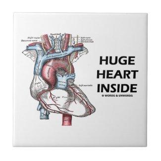 Huge Heart Inside (Anatomical Heart) Tiles