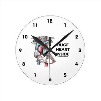 Huge Heart Inside (Anatomical Heart) Wallclocks