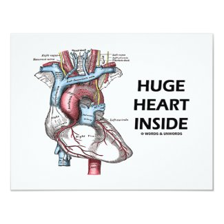 Huge Heart Inside Custom Invitation